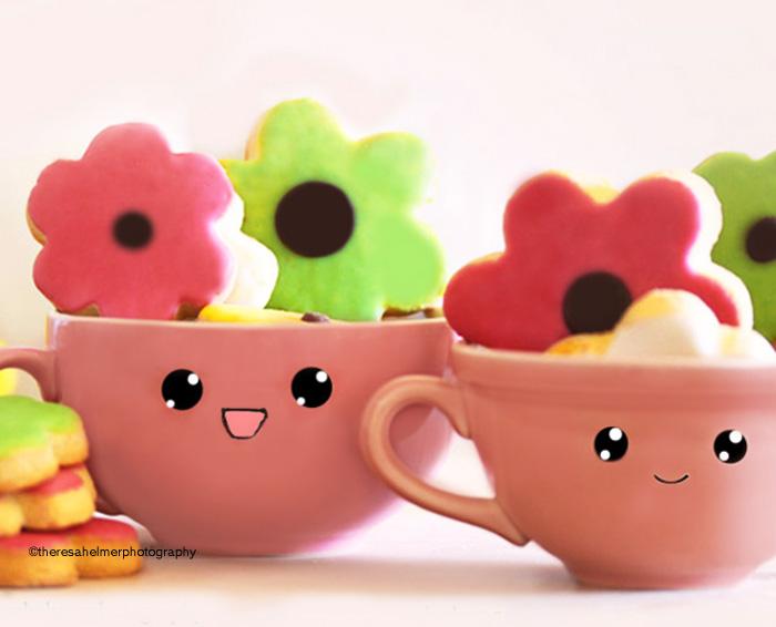 We Heart Flower Cookies by theresahelmer