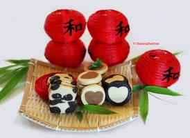 Panda Bear Cookies III by theresahelmer