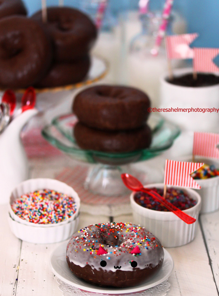 Chocolate Donut Birthday Party by theresahelmer
