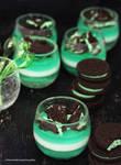 Mint Panna Cotta w/ Mint Oreo Cookies