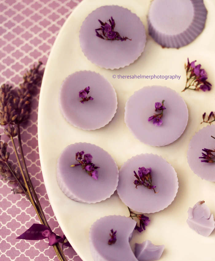 Lavender Chocolate Cups by theresahelmer