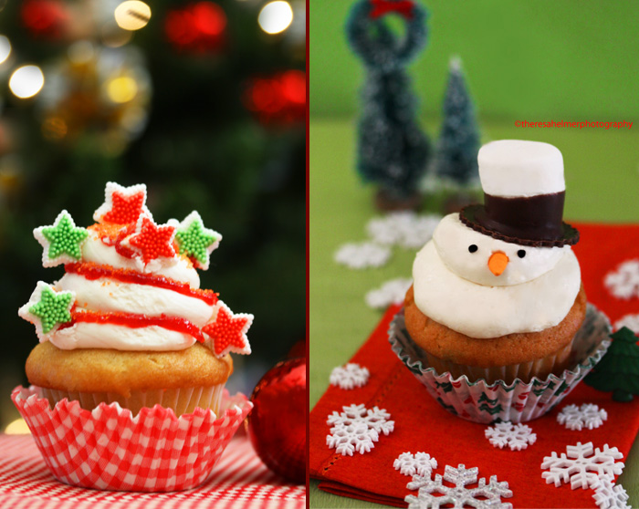 Christmas Cupcakes by theresahelmer