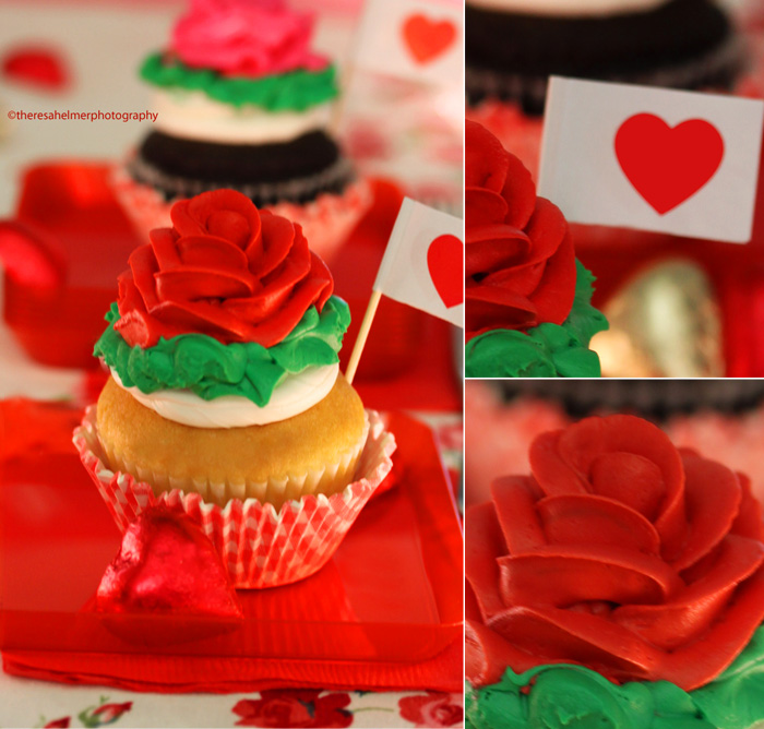 Beautiful Rose Cupcakes by theresahelmer