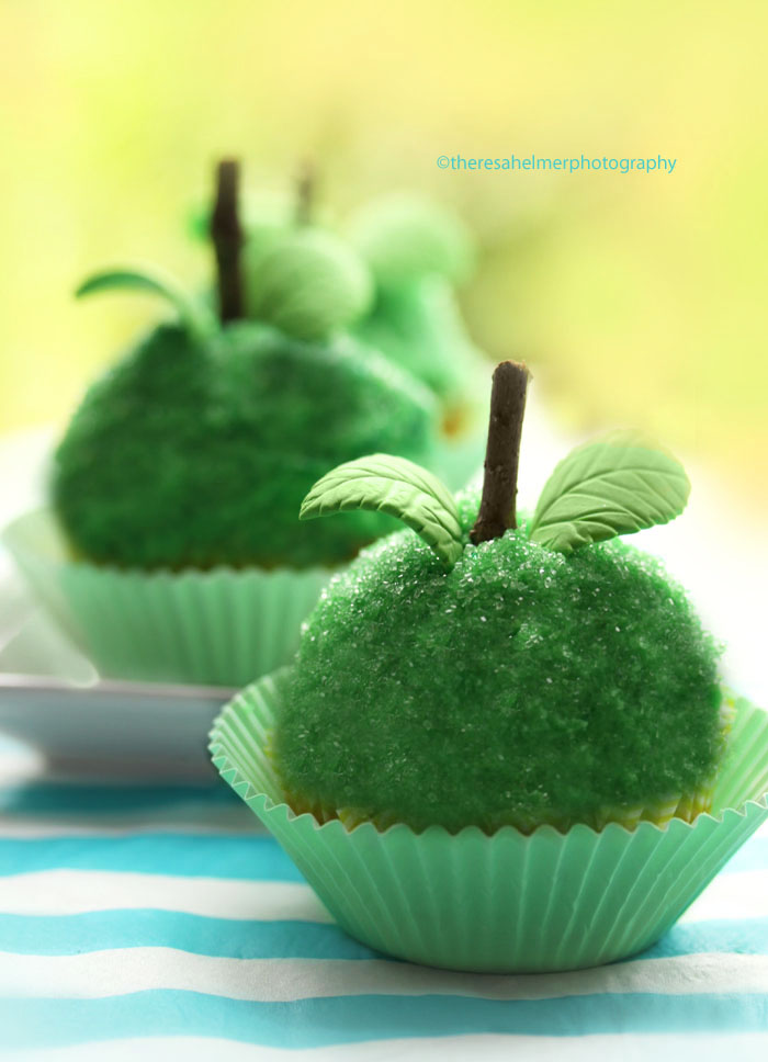 Granny Smith Apple Cupcakes by theresahelmer