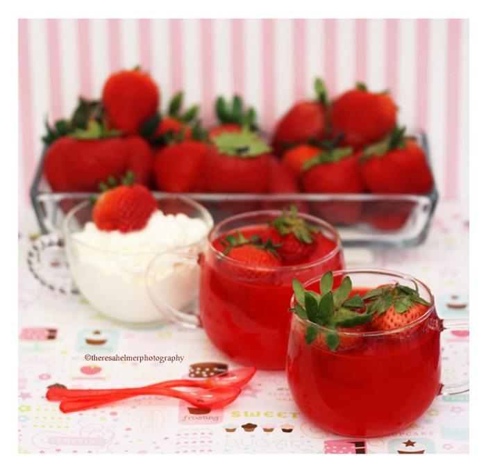 Simple n Easy Strawberry Jello for Easter Brunch by theresahelmer