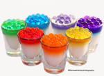 Rainbow Tapioca Balls w/ Panna Cotta