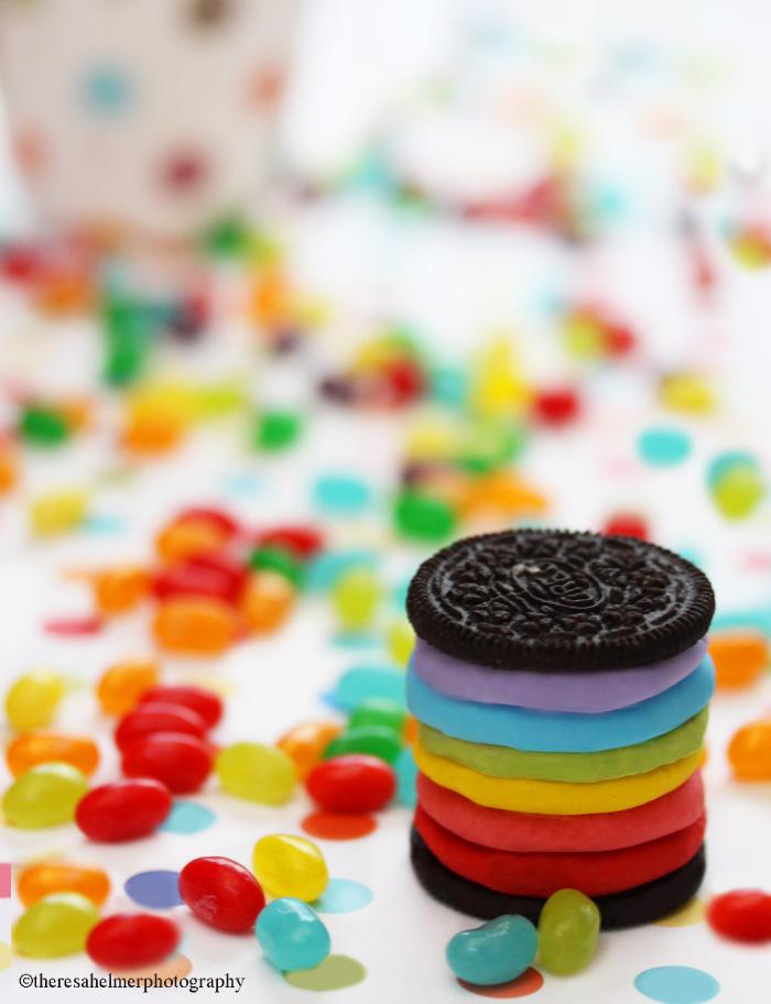 Rainbow Oreo Birthday Party by theresahelmer