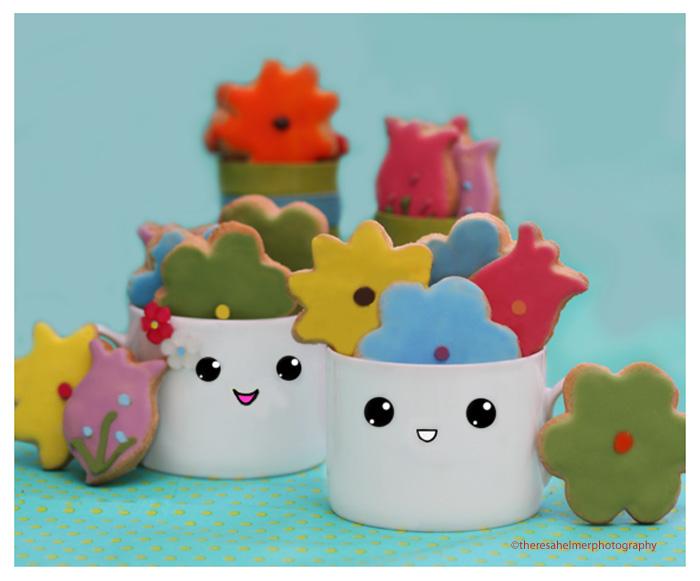 We Love Flower Sugar Cookies by theresahelmer