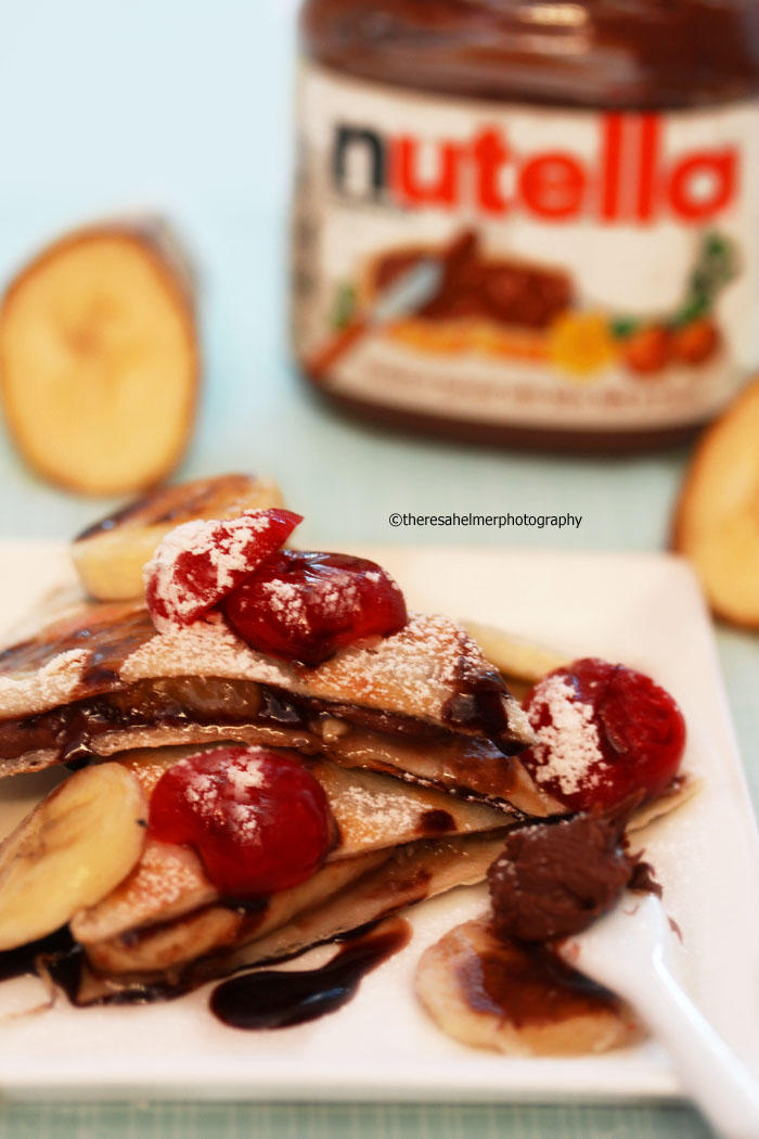 Grilled Nutella Banana Quesadilla w/Cinnamon Sugar by theresahelmer
