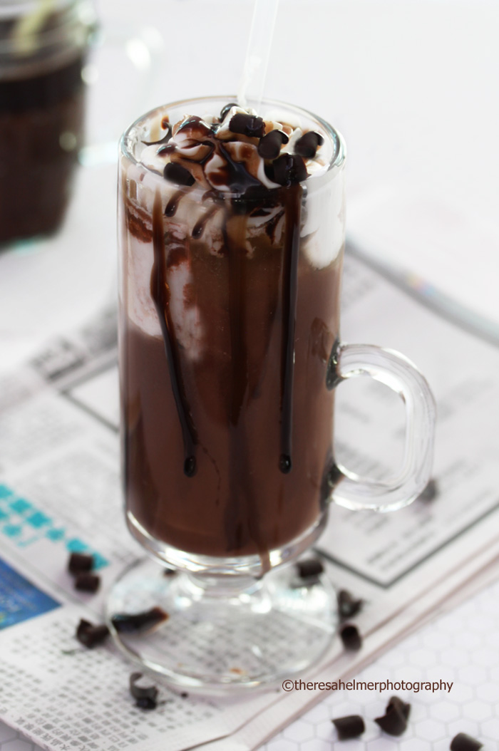 Dark Chocolate-Java Milkshake by theresahelmer