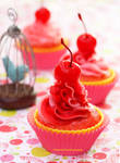 Cherry Cupcakes w/ Strawberry n Cherry Frosting