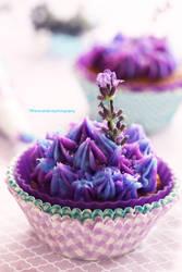 Lavender Honey Cupcake