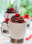 Triple Mousse (chocolate, strawberry and vanilla)