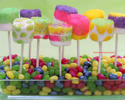 Fun n Colorful Marshmallow Pops by theresahelmer