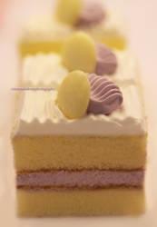 Lemon Cake w/ Royal Icing by theresahelmer