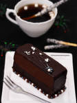 A Slice of Dark Chocolate Fudge Cake
