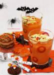 Pumpkin Pudding w/ Halloween Cookies