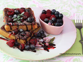 Good Morning To Me - Homemade Chocolate Waffles by theresahelmer