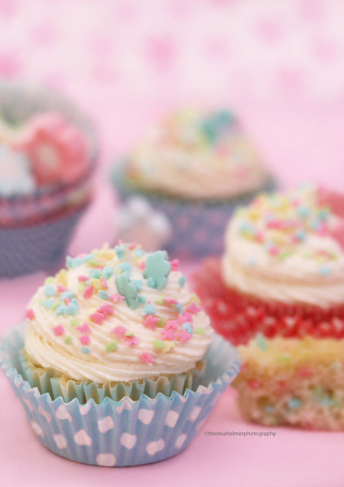 Confetti Cupcakes by theresahelmer