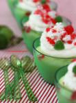 Christmas Themed Homemade Lime Pudding