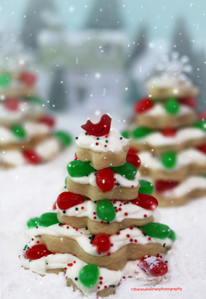 Sugar Cookie Christmas Trees W Recipe By Theresahelmer