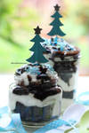 Dark Chocolate Cake In Jars