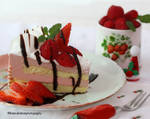 Strawberry and Raspberry Mousse Cake