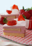 Strawberry and Raspberry Mousse Cake II