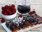 Chocolate Belgian Waffles On  Sticks w/ Sprinkles