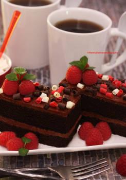 No Stress Afternoon (w/ Dark Chocolate Cake)