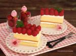 Classic Vanilla Cake with Fresh Raspberries