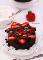 Mini Triple Chocolate Strawberry Cake by theresahelmer
