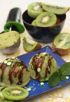 Homemade Kiwi Ice Cream by theresahelmer