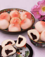 Chinese Peach Buns by theresahelmer