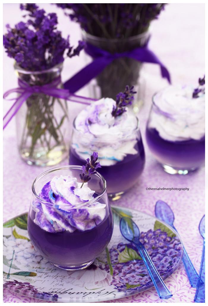 Lavender Panna Cotta with Lavender Whipped Cream by theresahelmer