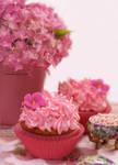 Pink Hydrangeas by theresahelmer