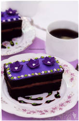 Chocolate Fudge Cake with Lavender Infused Icing