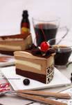 Tiramisu Cake with Kahlua coffee liqueur drink