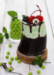 Chocolate Fudge Pudding with Mint Whipped Cream by theresahelmer