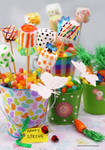 Happy Spring - Marshmallow Pops
