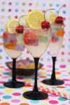 Sparkling Wine with Wagashi Jelly Drink