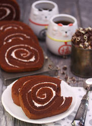 Japanese Style - Chocolate Cake Roll by theresahelmer
