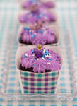 Mini Chocolate Lavender Cakes
