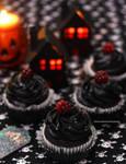 Blackberry Halloween  Cupcakes
