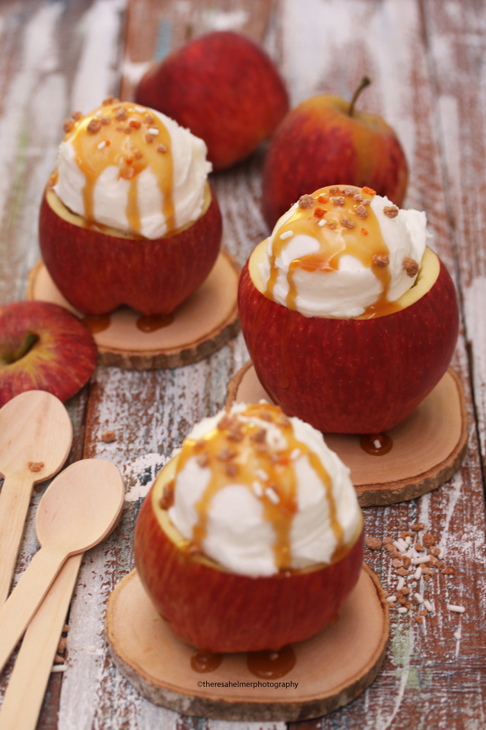 Caramel Apple Sundaes