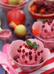 Homemade Garden Pomegranate Ice Cream
