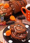 Chocolate Roll Cake/Halloween Chocolate Bites