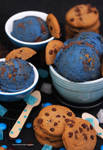 Homemade Cookie Monster Ice Cream
