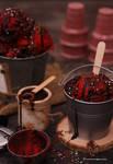 Chocolate Strawberry Oreo Cookies Ice Cream
