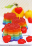 Good Ol Lemon Rainbow Jello
